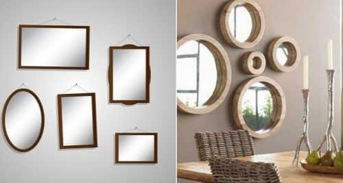 Зеркала разных размеров
