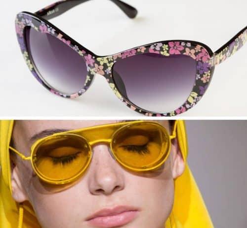 Очки из цветного пластика