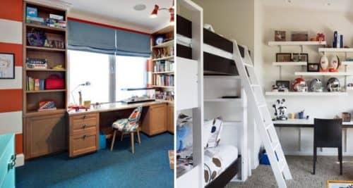 Оформление маленькой комнаты для школьника