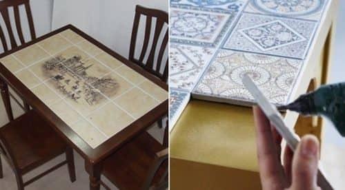 Битая плитка для стола