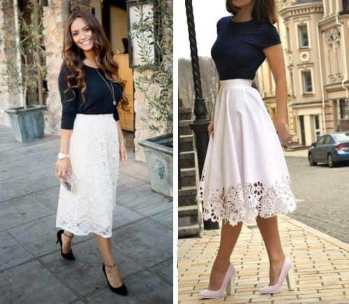 Выбор длины юбки