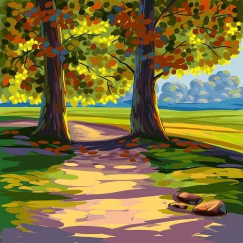 Рисование пейзажей возобновляет силы