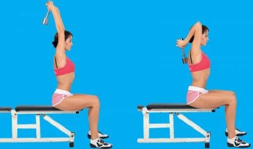 Упражнения для рук с гирей