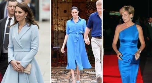 Голубая гамма в одежде
