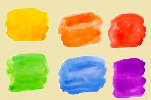 Разноцветные пятна для запоминания