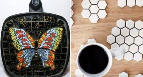 Подставки под чашку из битой плитки