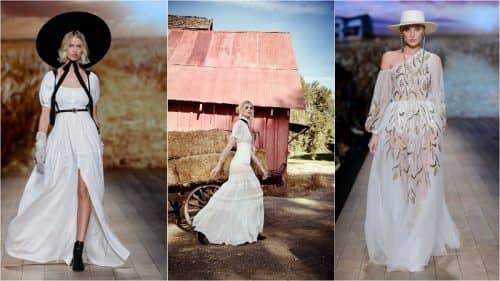Длинные платья в деревенском стиле
