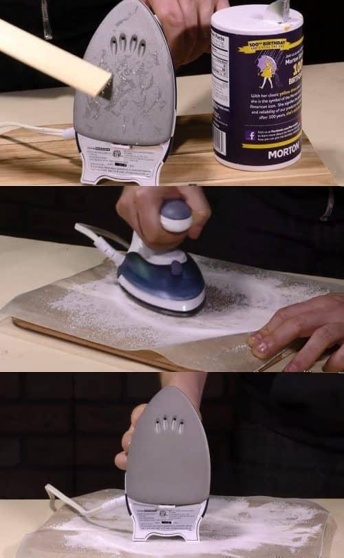 Как убрать налет с утюга