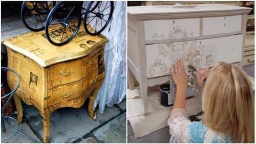 Декупаж для обновления мебели