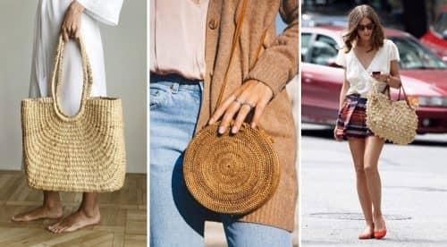 Модные соломенные сумки