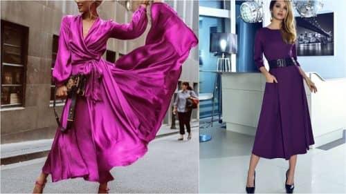 Цветовая гамма модных платьев