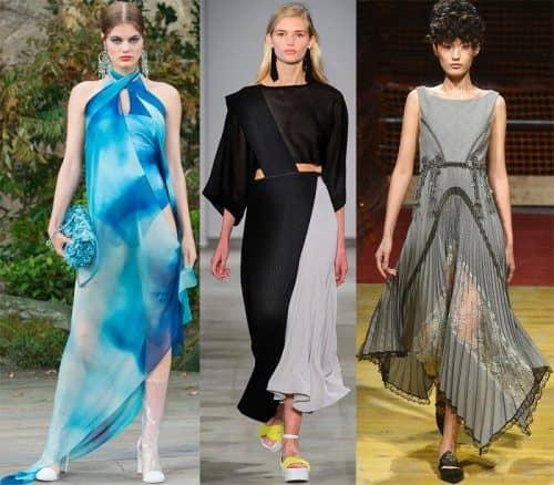 Асимметричные длинные платья