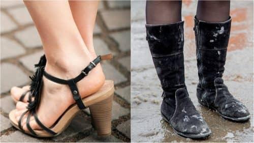 Неряшливый вид от большой обуви