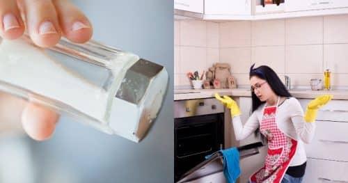 Соль при запахе из духовки