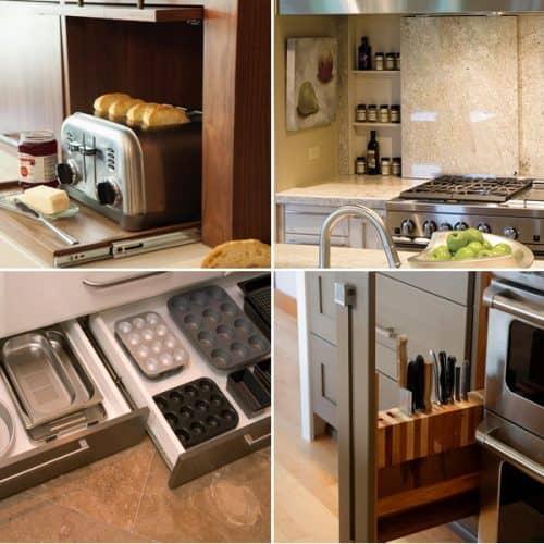 Хитрости для экономии места на кухне